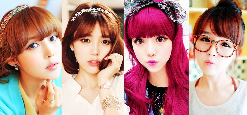 peinados coreanos,para el colegio,con flequillo,faciles,rapidos,kawaii,idols coreanas