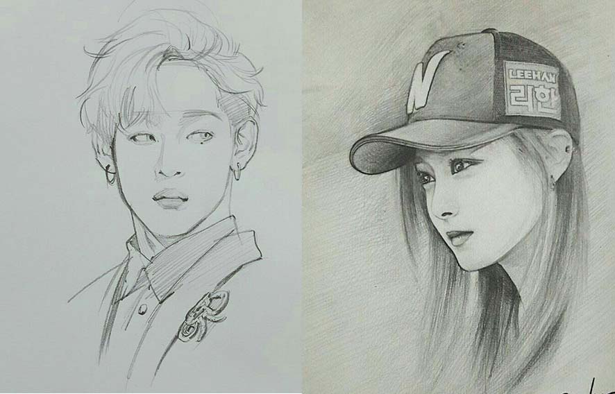 painting -painting korean-jungkook bts jungkook -Dibujos A Lápiz, Fondos De Pantalla Del Teléfono, Retos, Dibujo-exo-blackpink-idols-chicas guapas-chicos guapos-drawings-famosos